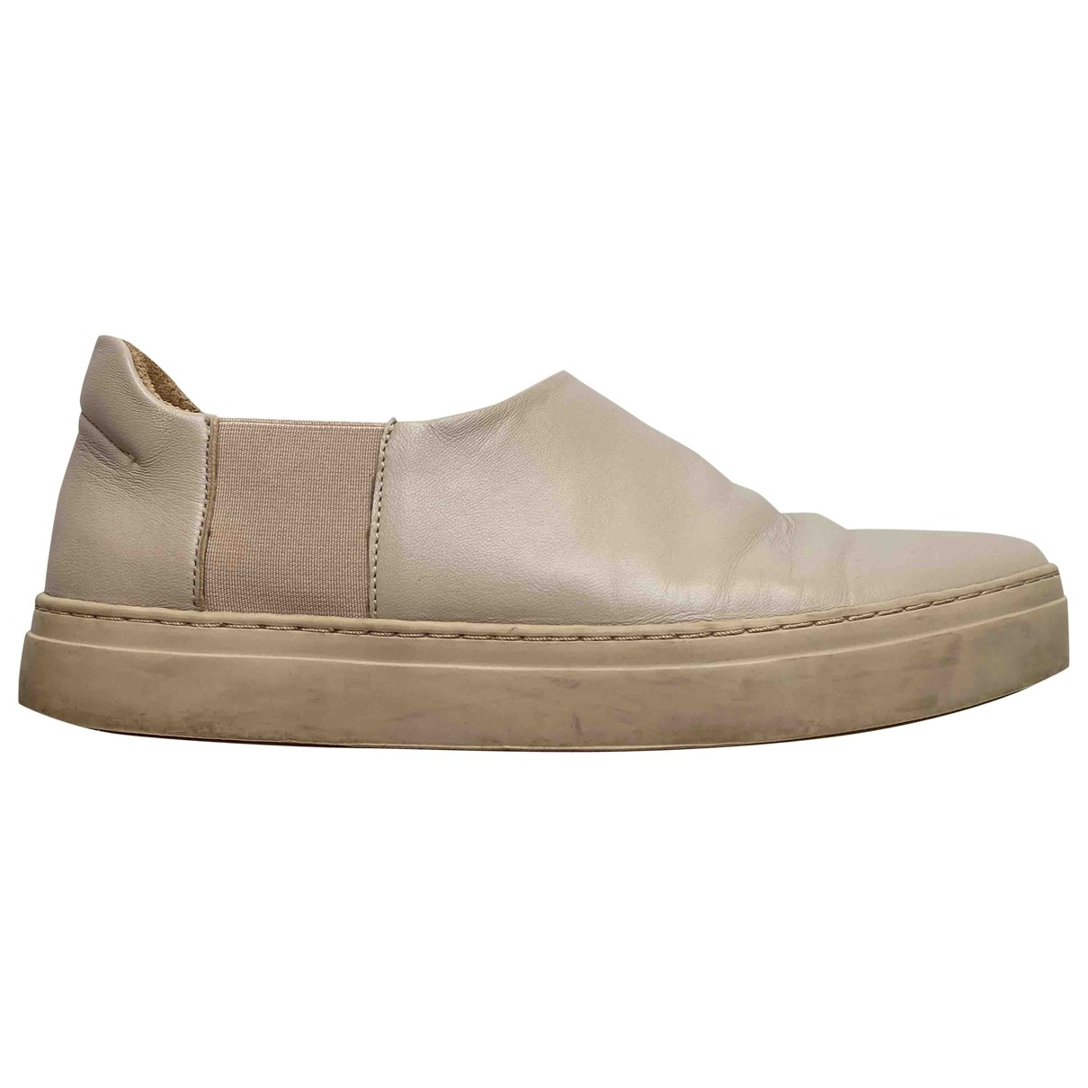 Cos \N Beige Leather Trainers for Women 39 EU