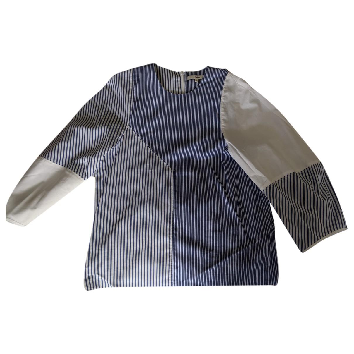 Tibi - Top   pour femme en coton - bleu