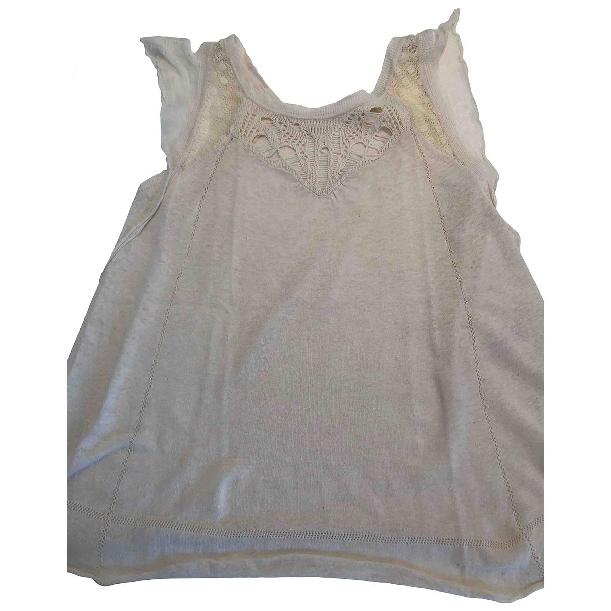 Vanessa Bruno Athe - Top   pour femme en coton - beige