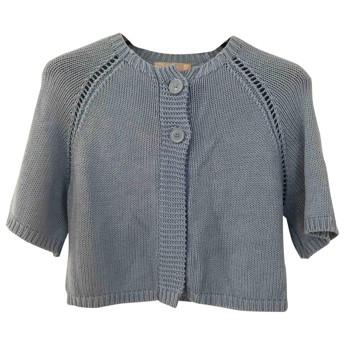Zara - Veste   pour femme en coton - bleu