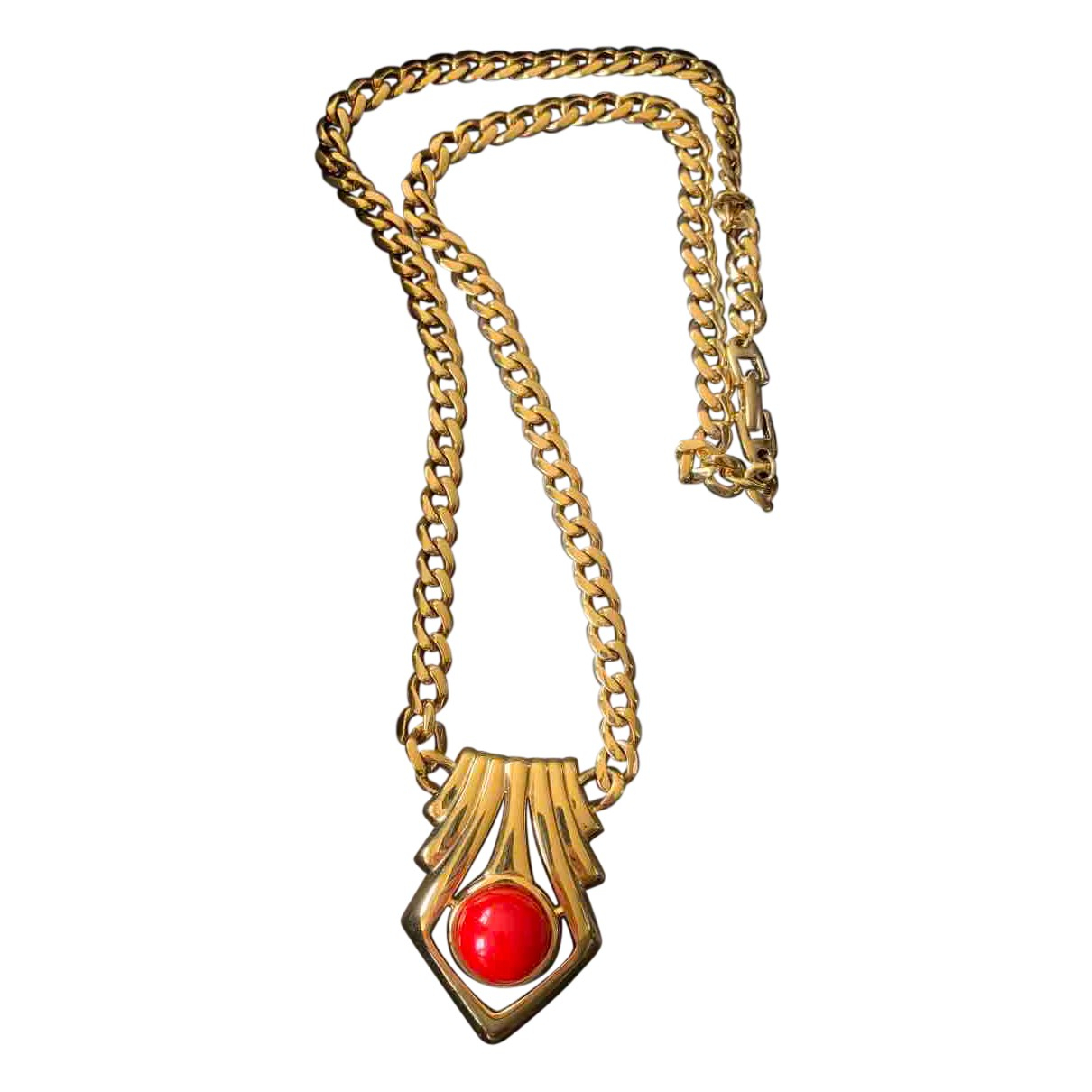 Non Signé / Unsigned Art Déco Red Metal necklace for Women \N