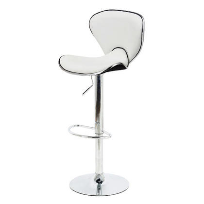 Bar Stool with Adjustable Height Swivel Butterfly- Moustache@ - 1/Pack, White