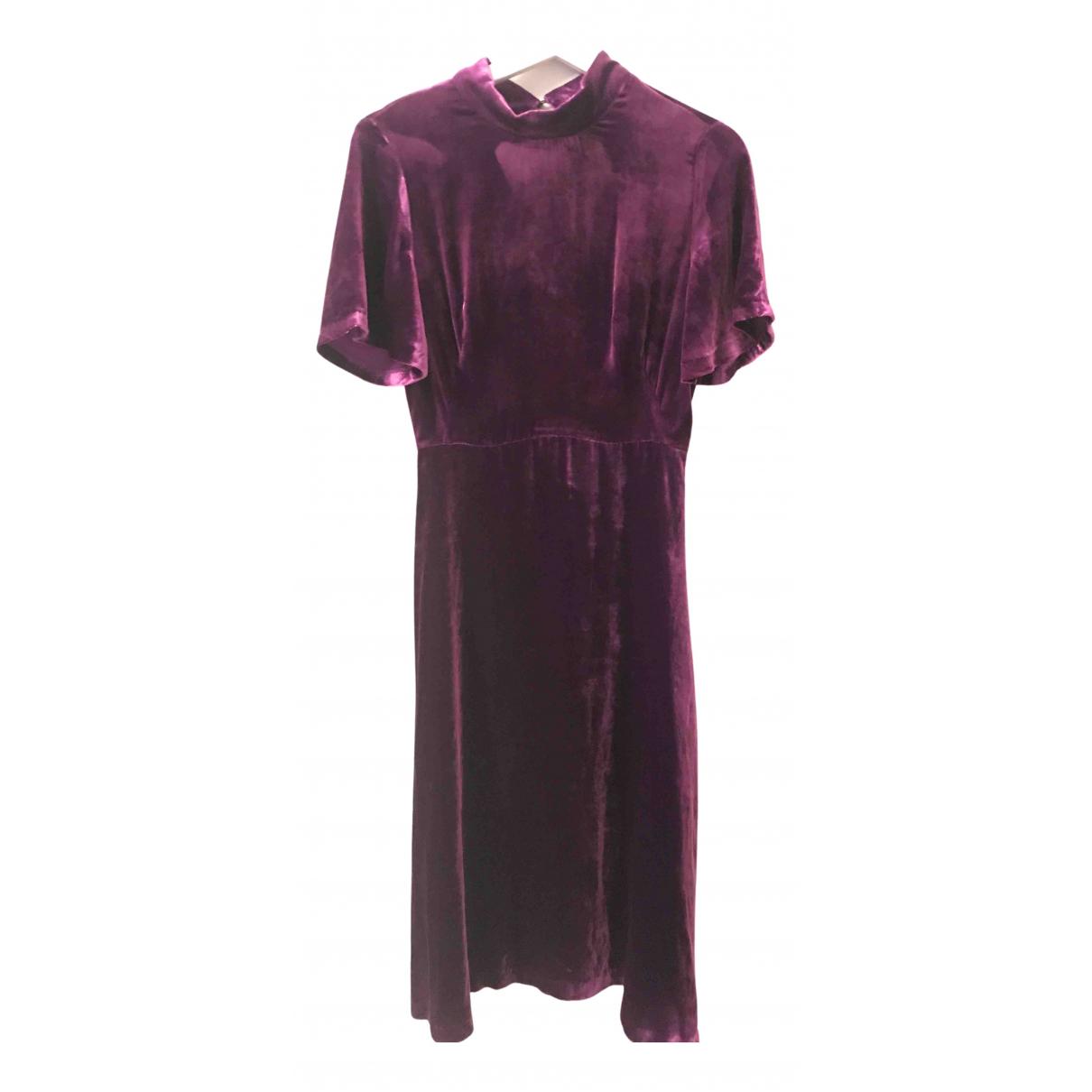 Sandro - Robe   pour femme en velours - violet