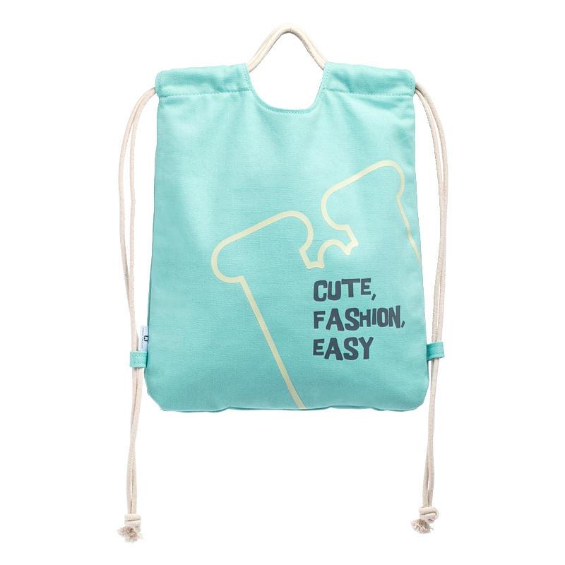 Jordan&Judy 2L Drawstring Canvas Backpack Leisure Shoulder Bag Handbag Outdoor Travel
