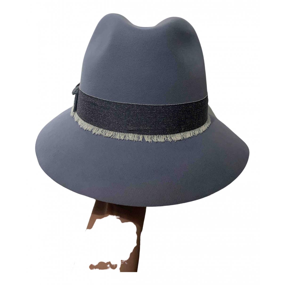 Loro Piana N Blue Wool hat for Women M International