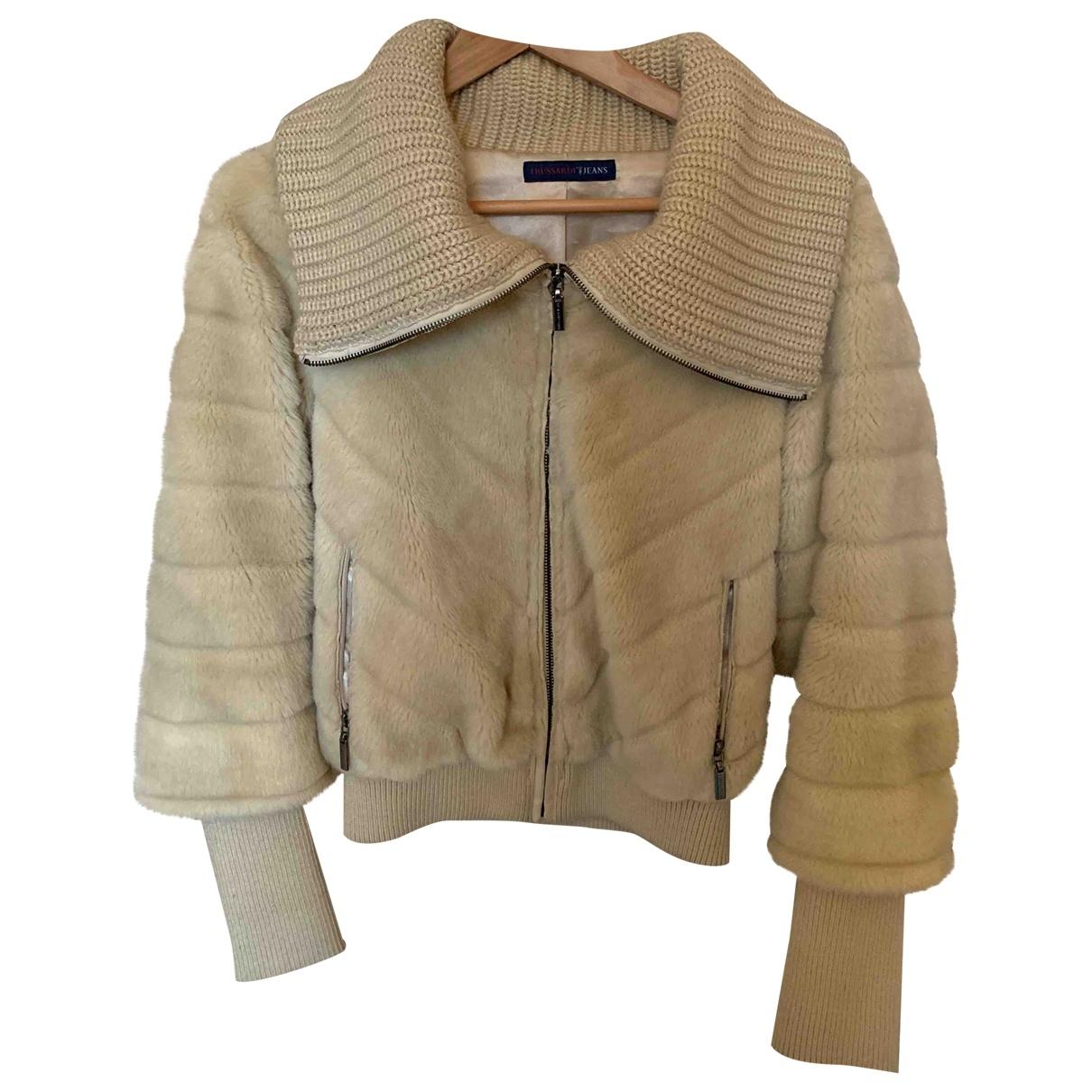Trussardi Jeans \N Jacke in  Ecru Polyester
