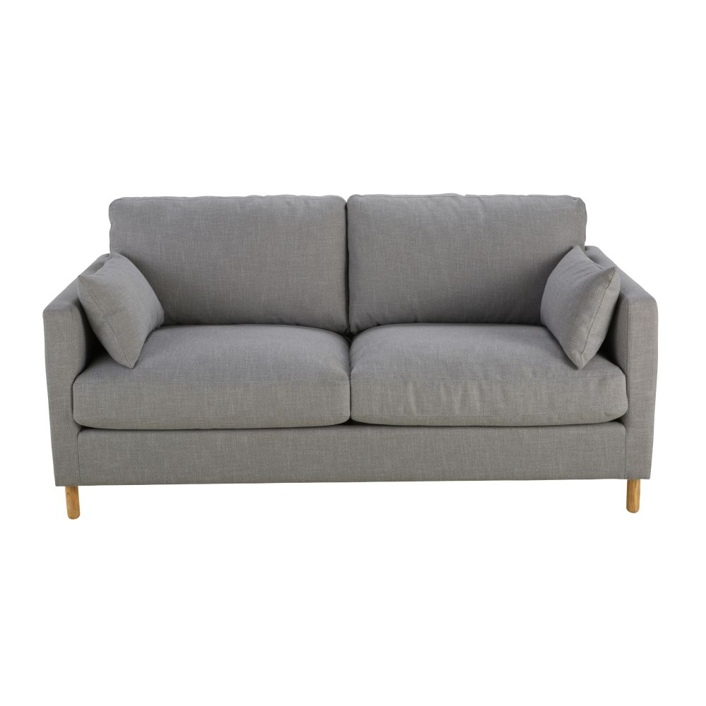 3-Sitzer-Schlafsofa, grau mit Matratze 10 cm Julian