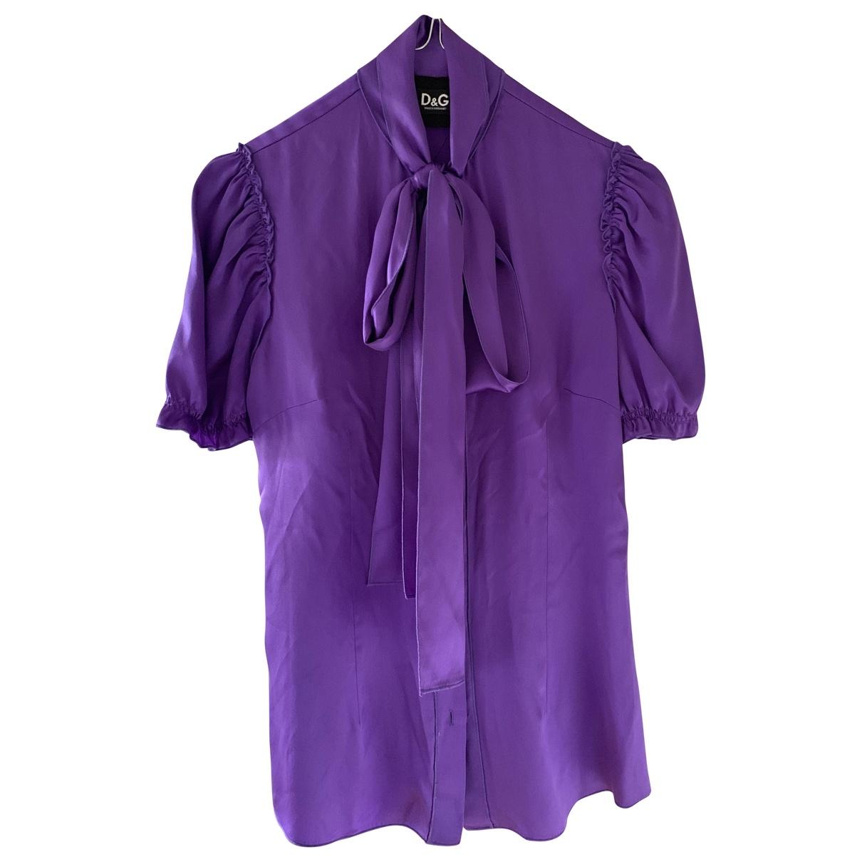 D&g - Blouson   pour femme en soie - violet
