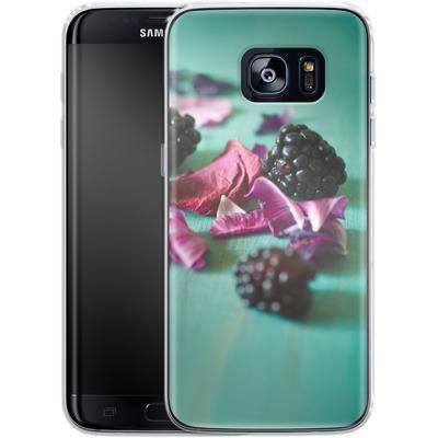 Samsung Galaxy S7 Edge Silikon Handyhuelle - Stills Flowers Fruit von Joy StClaire