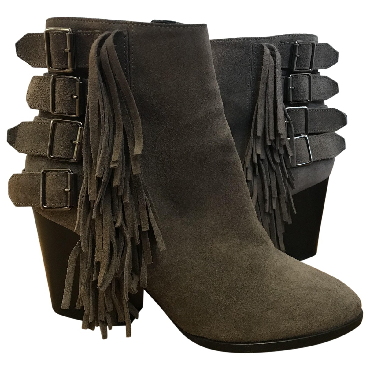 The Kooples \N Grey Suede Ankle boots for Women 37 EU