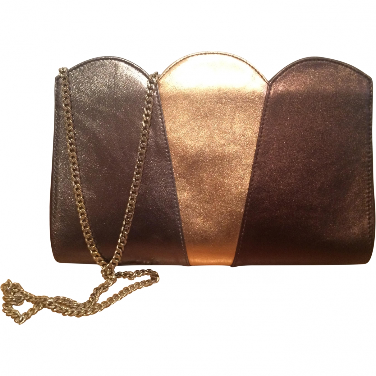 Uterque \N Gold Leather Clutch bag for Women \N