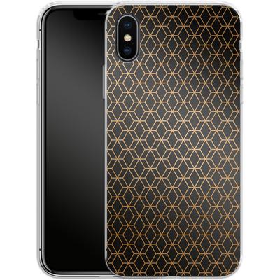 Apple iPhone X Silikon Handyhuelle - Night Pattern von #basic