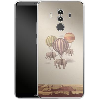 Huawei Mate 10 Pro Silikon Handyhuelle - Flight Of The Elephants von Terry Fan