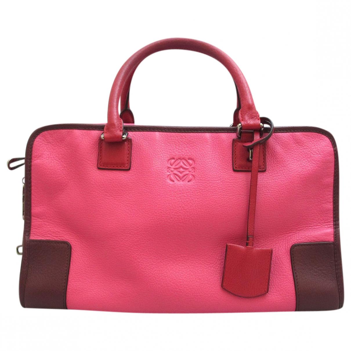 Loewe Amazona Pink Leather handbag for Women \N
