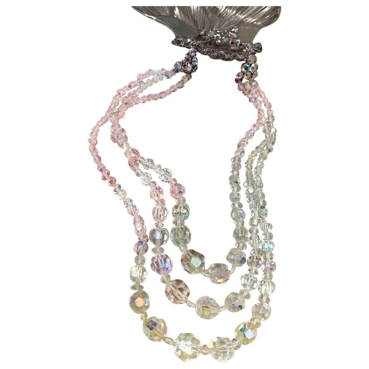 Non Signé / Unsigned Art Déco Multicolour Crystal necklace for Women \N