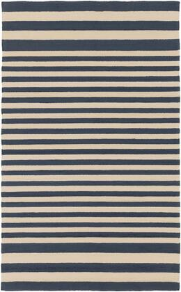 Rain RAI-1155 8' x 10' Rectangle Modern Rug in Navy