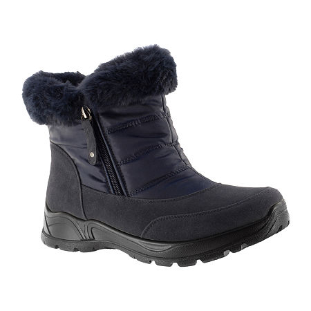 Easy Street Womens Frosty Waterproof Winter Boots, 6 1/2 Medium, Blue