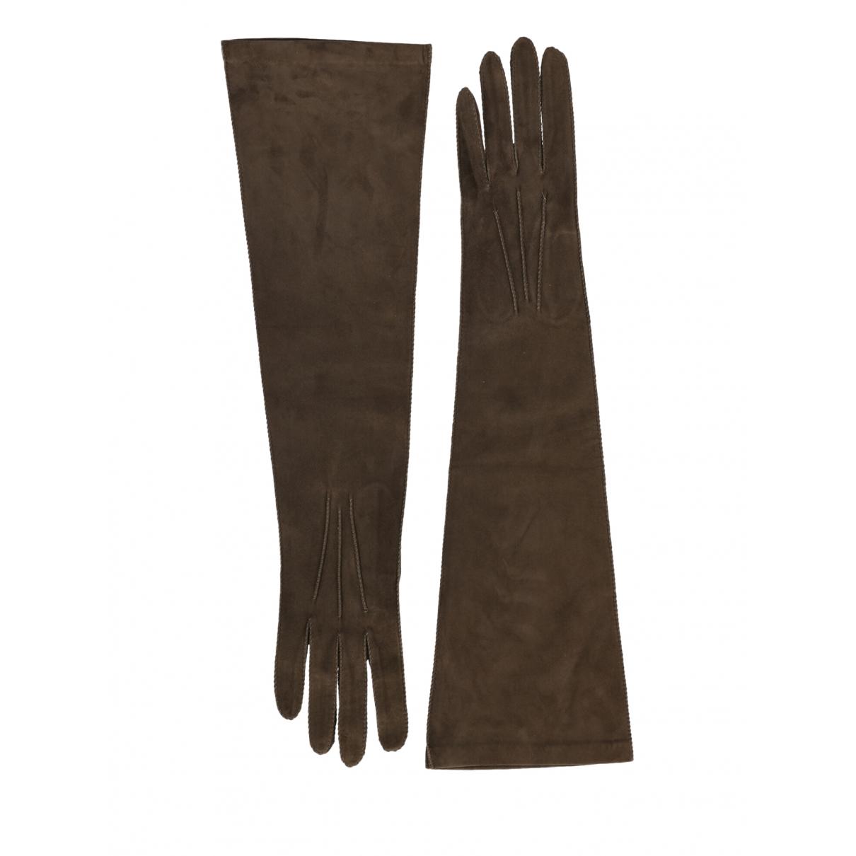 Bottega Veneta - Gants   pour femme en cuir - marron