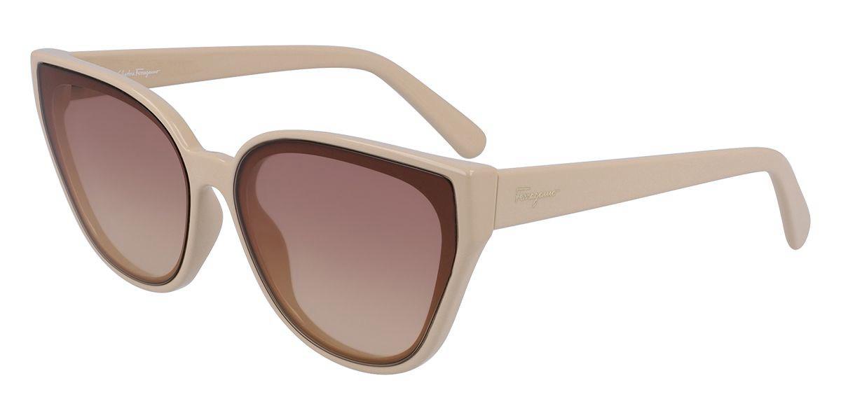 Salvatore Ferragamo SF997S 264 Women's Sunglasses Brown Size 63