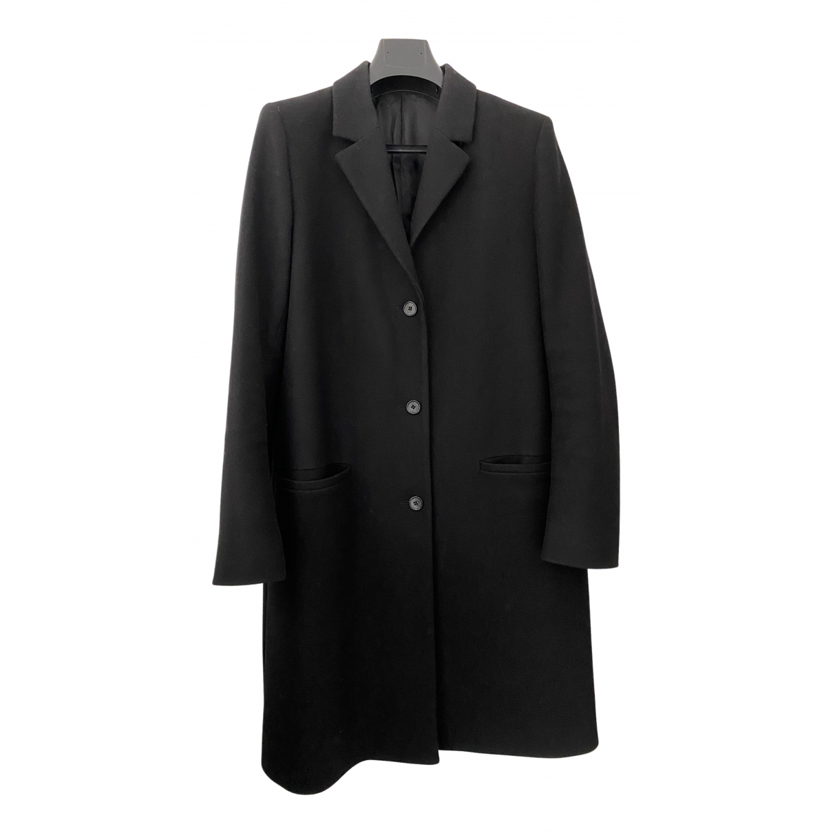Cos - Manteau   pour homme en laine - noir