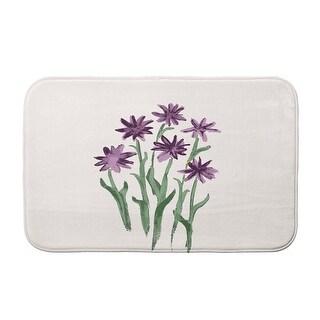 Farmers Market Daffodils Bath Mat (Purple - 21 x 34)
