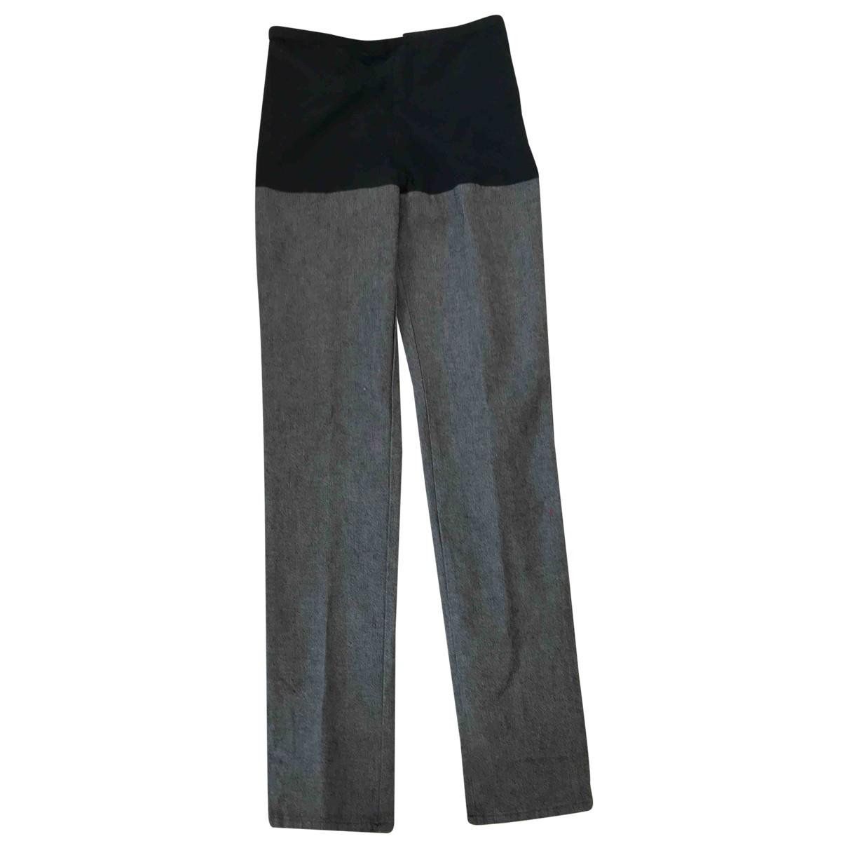 Maison Martin Margiela \N Black Denim - Jeans Trousers for Women 42 IT