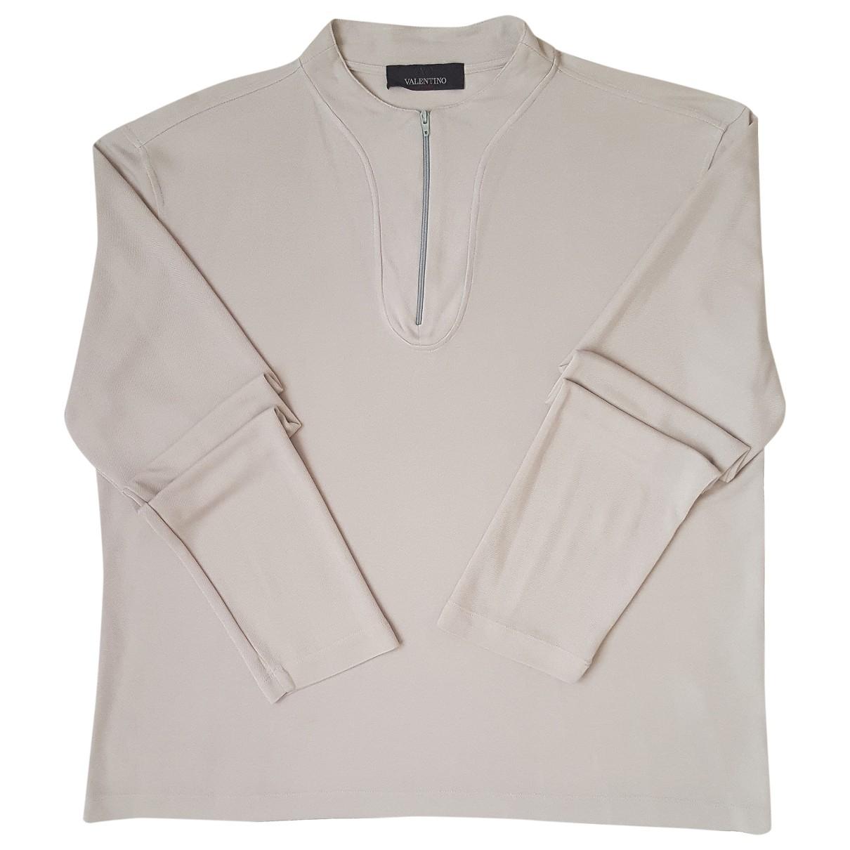 Valentino Garavani \N Grey Cotton Knitwear & Sweatshirts for Men L International