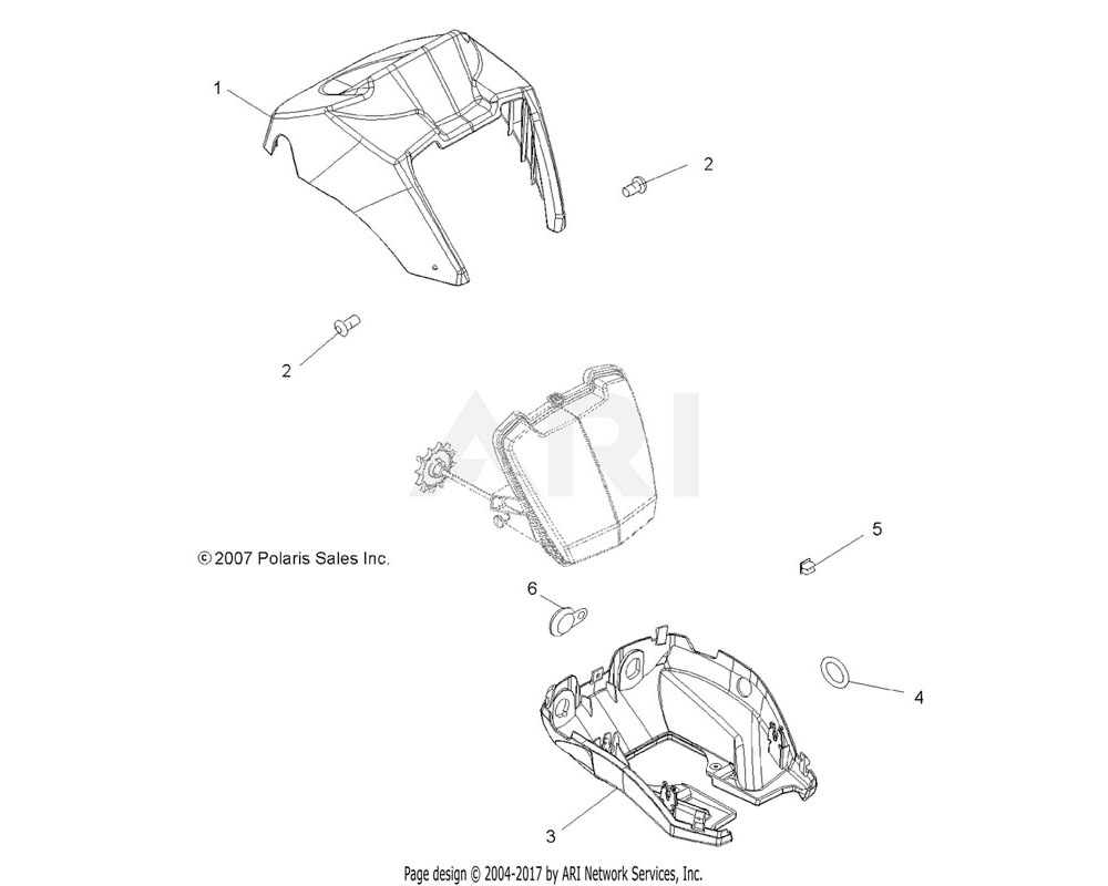 Polaris OEM 5437356-498 Pod, Headlight, Upper, Sage Brush Green Metallic