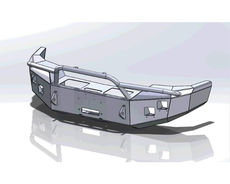 Hammerhead Armor 600-56-0115 Sierra Front Winch Bumper For 03-06 Sierra 2500-3500 HD Pre Runner Black Steel