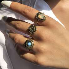 3pcs Bohemian Geo Decor Ring