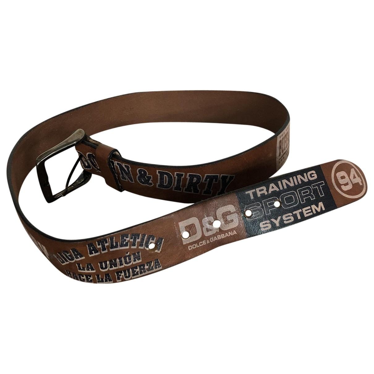 D&g \N Leather belt for Men 90 cm