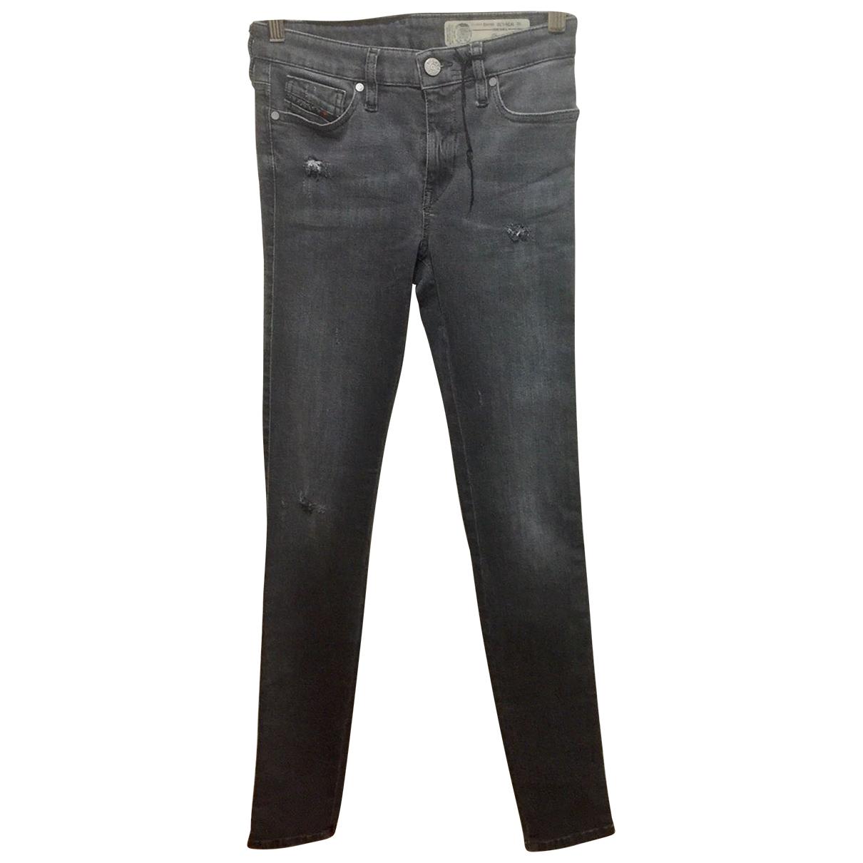 Diesel N Grey Cotton - elasthane Jeans for Women 26 US