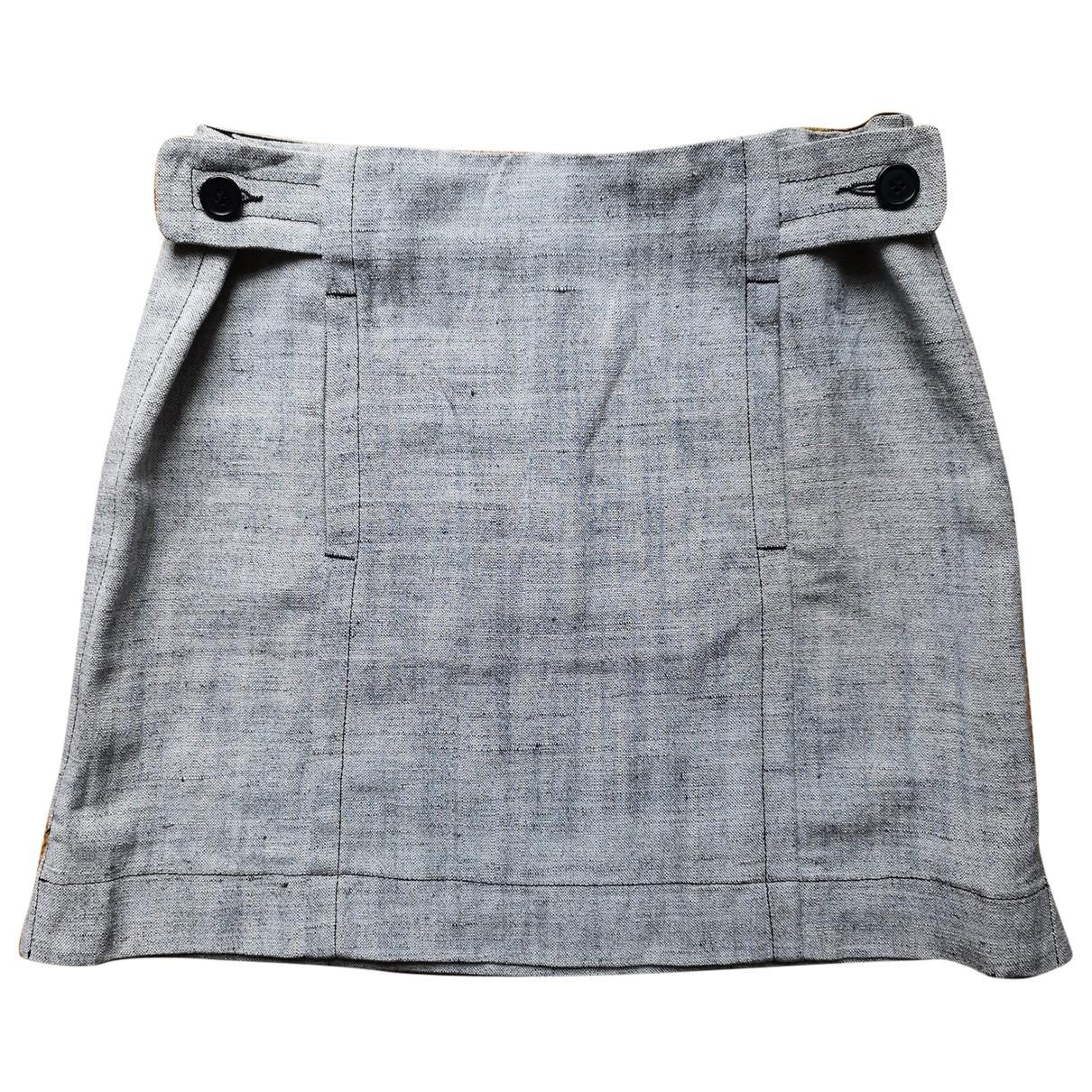 Aspesi \N Grey Silk skirt for Women 40 IT
