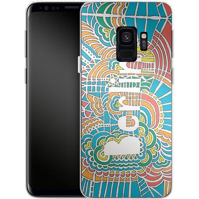 Samsung Galaxy S9 Silikon Handyhuelle - Berlin Blue von Kaitlyn Parker