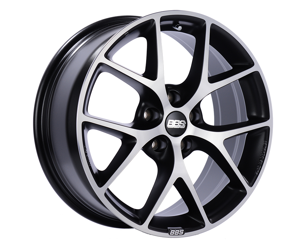 BBS SR Wheel 17x7.5 5x112 35mm Volcano Grey with Diamond-Cut Face