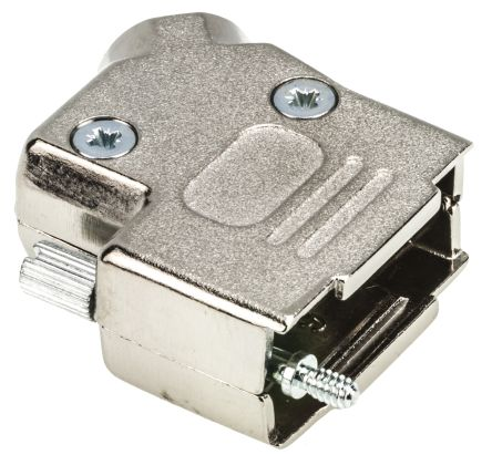 MH Connectors , MHD45ZK Zinc Angled D-sub Connector Backshell, 9 Way, Strain Relief, Silver