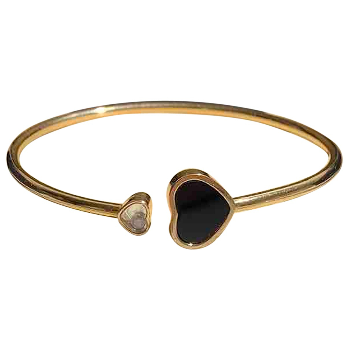 Chopard Happy Hearts Black Yellow gold bracelet for Women N