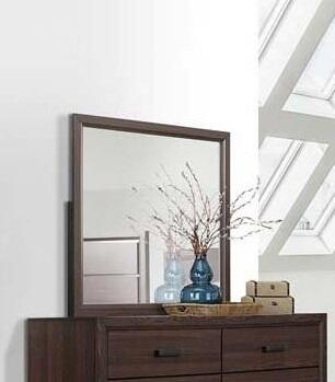 Shiloh Collection SH176-M Mirror with Wood Trim Brown