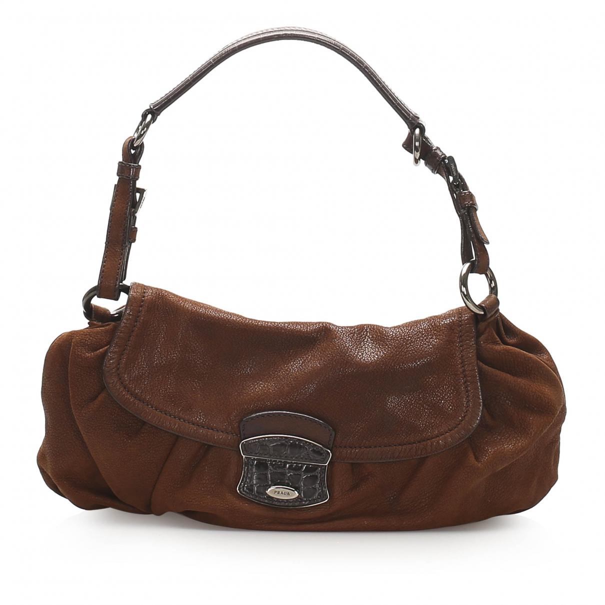 Prada N Brown Leather handbag for Women N