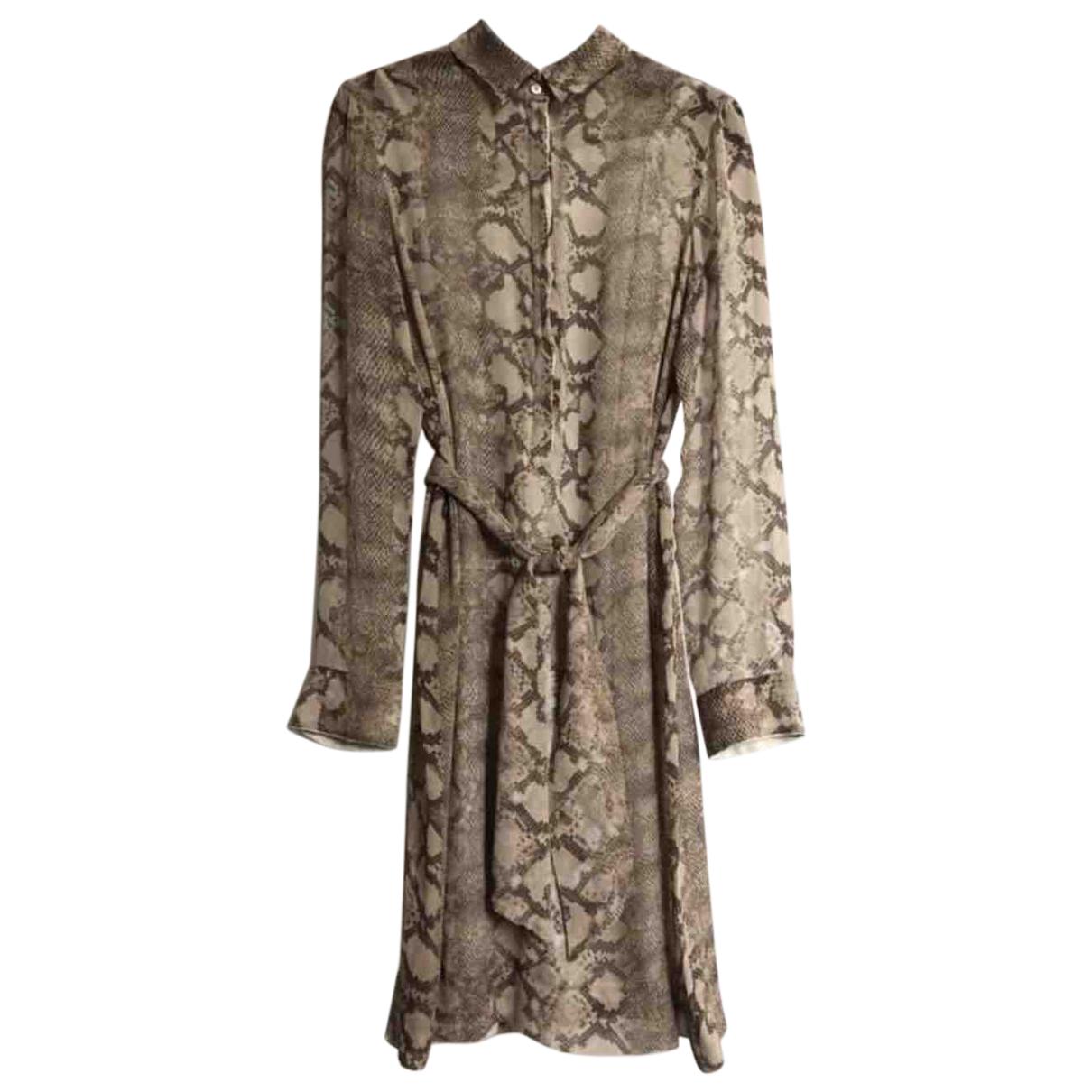 Strenesse - Robe   pour femme en soie - beige