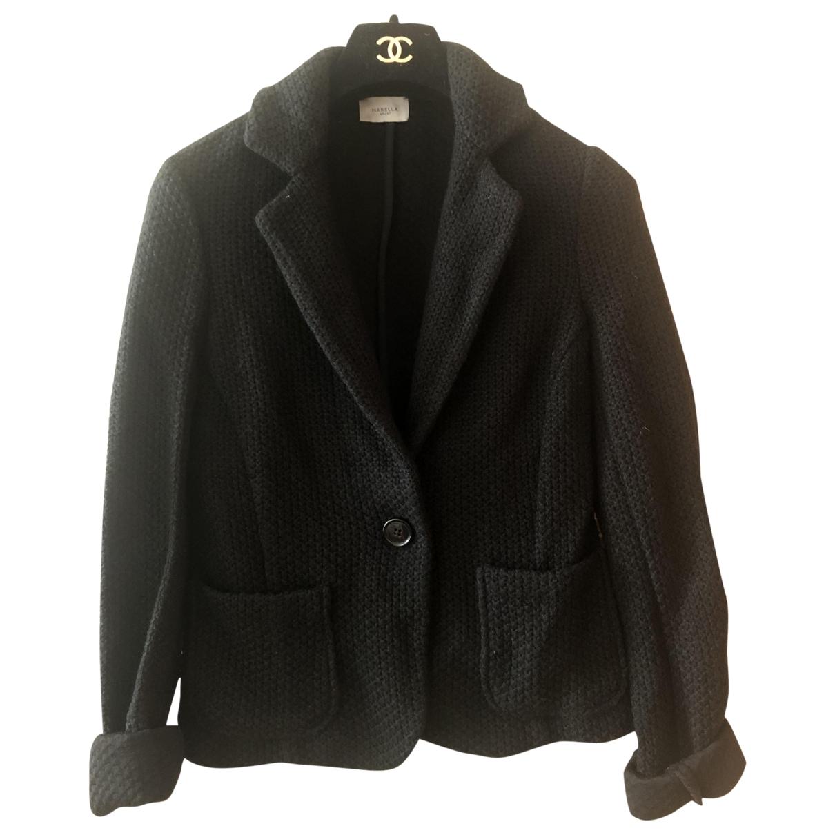 Marella - Pull   pour femme en coton - noir