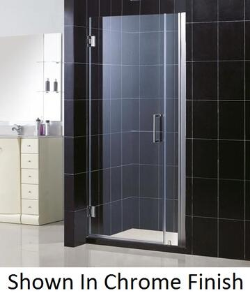 SHDR-20337210-04 Unidoor 33-34 In. W X 72 In. H Frameless Hinged Shower Door  Clear Glass  In Brushed