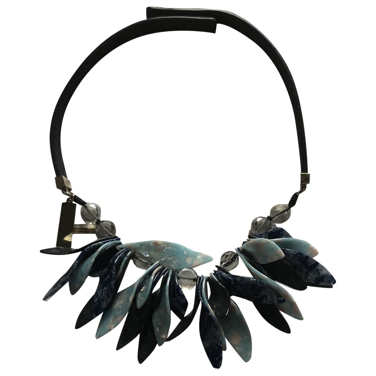 Max Mara Weekend \N Blue Leather necklace for Women \N