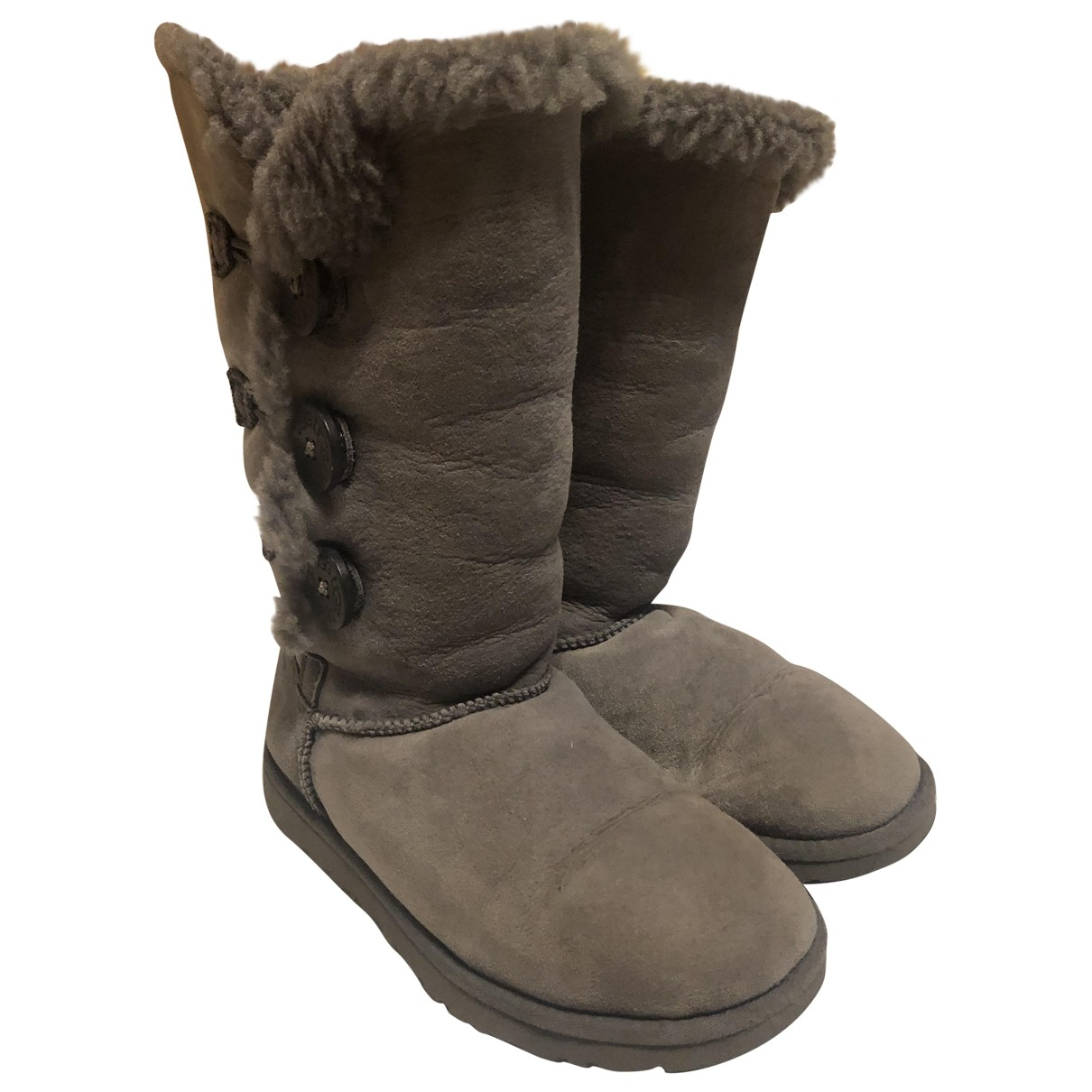Ugg \N Grey Suede Ankle boots for Women 37 EU