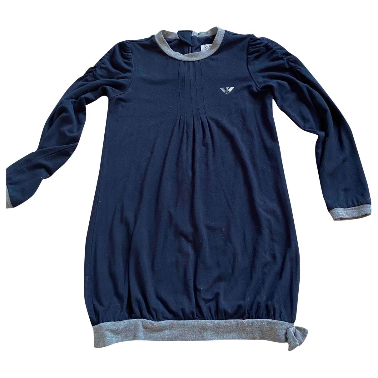 Armani Collezioni \N Kleid in  Blau Baumwolle