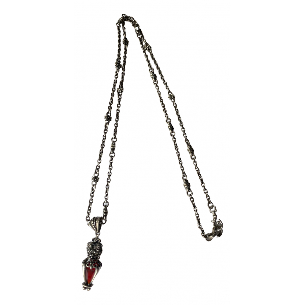 Non Signé / Unsigned N Silver Silver Long necklace for Women N