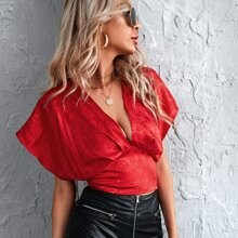 Blusas Cut-out Floral Sexy