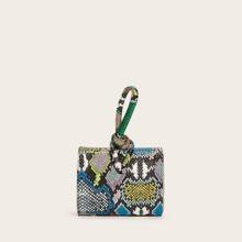 Mini Snakeskin Graphic Satchel Bag