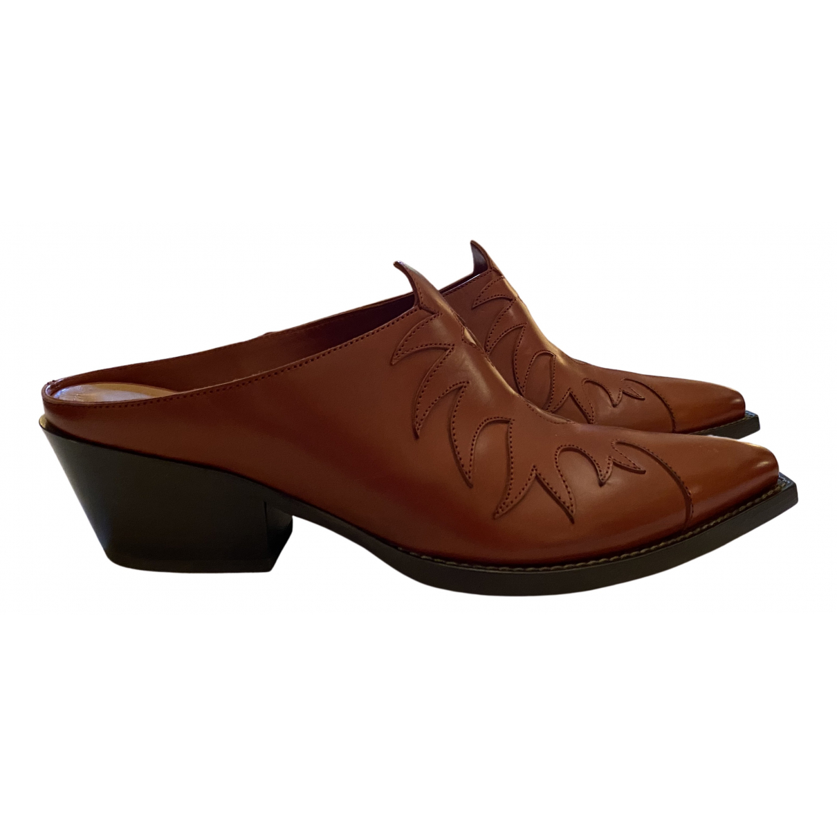 Sartore N Brown Leather Sandals for Women 38 EU