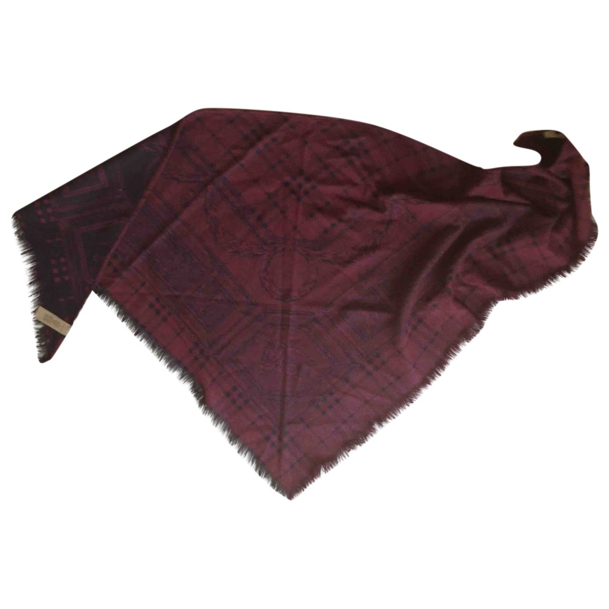 Burberry \N Burgundy Cashmere scarf for Women \N